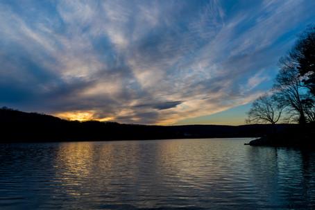 Sunset at the Dam