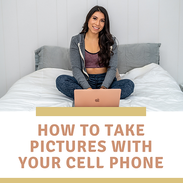 How to take pictures with your cell phon
