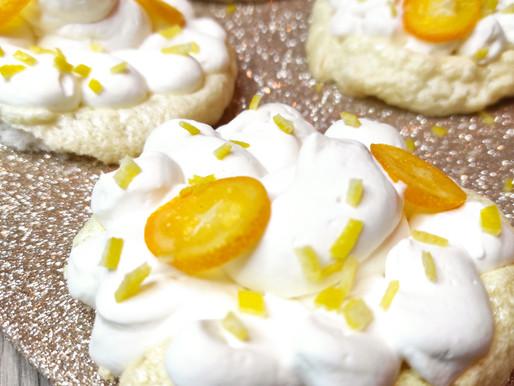 Pavlova crème au yuzu