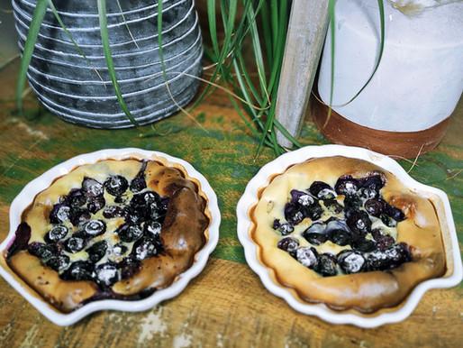 Clafoutis aux myrtilles