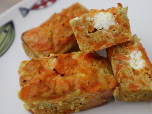 Petits flans de carottes et carrés frais