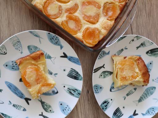 Clafouti au lait concentré et abricots