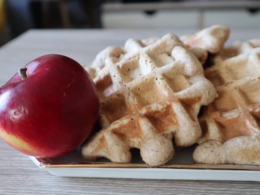 Gaufres moelleuses à la compote de pommes
