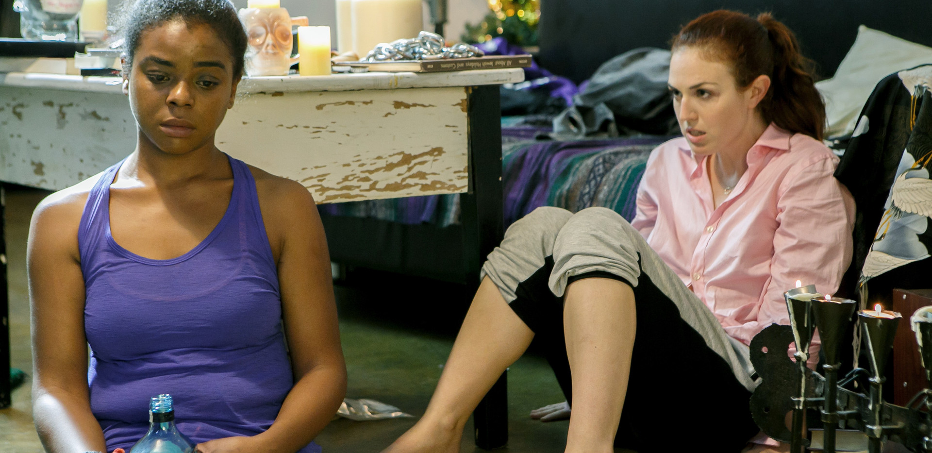 As Chrissie with E'dena Hines in Landing Up