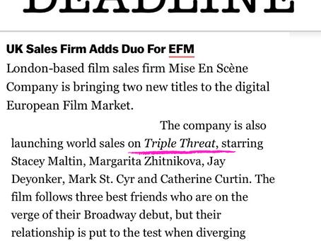 Triple Threat in Deadline!