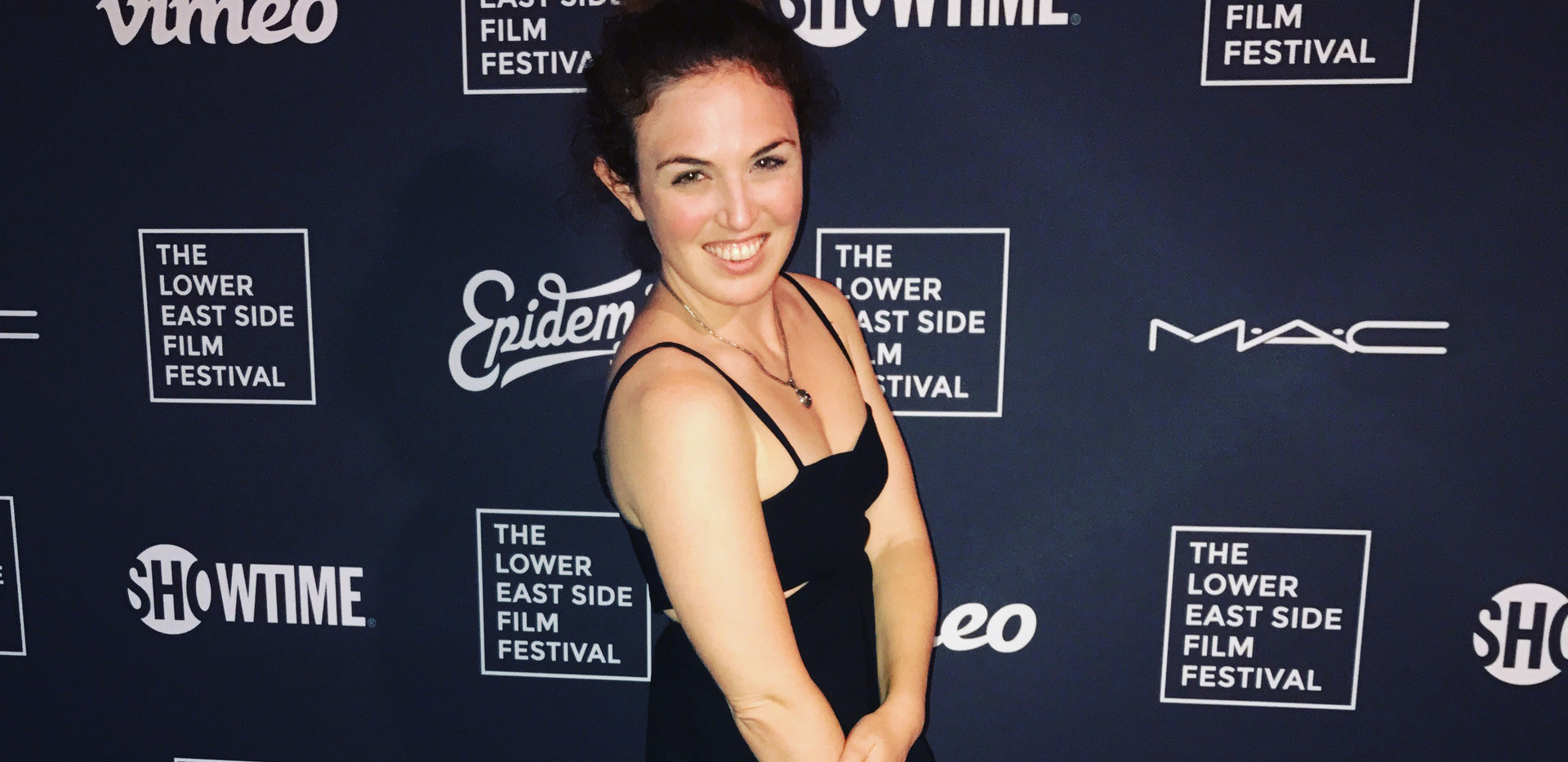 On the red carpet of the Lower East Side Film Festival