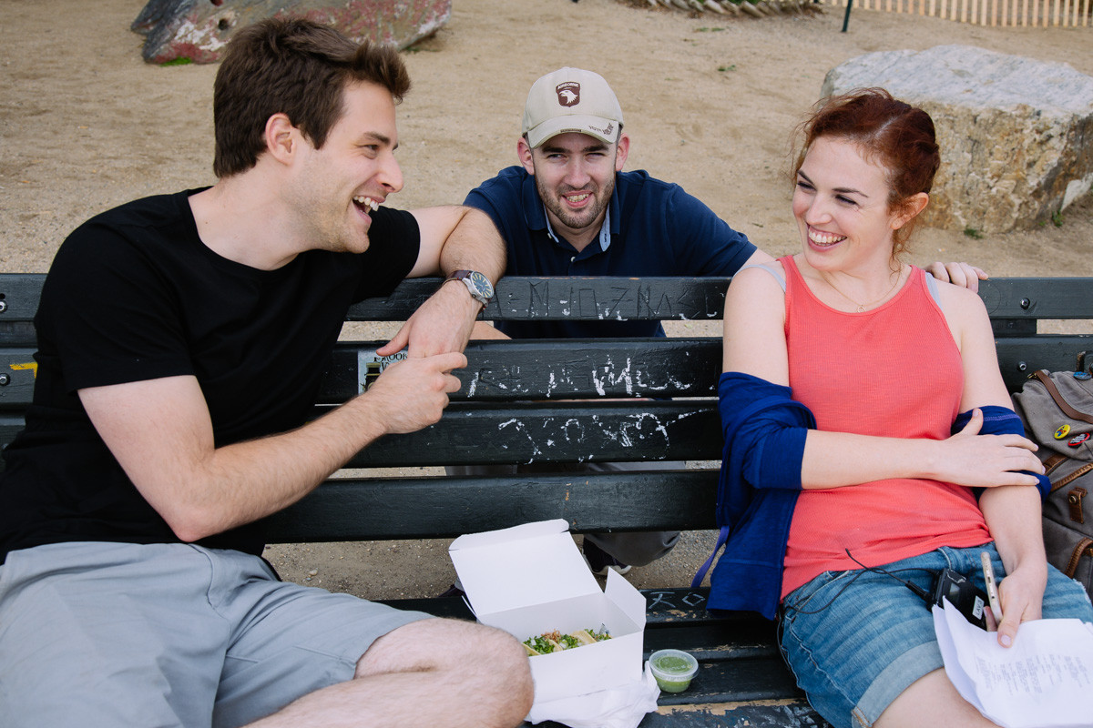 With Ben Rappaport and Dani Tenenbaum on the set of Landing Up