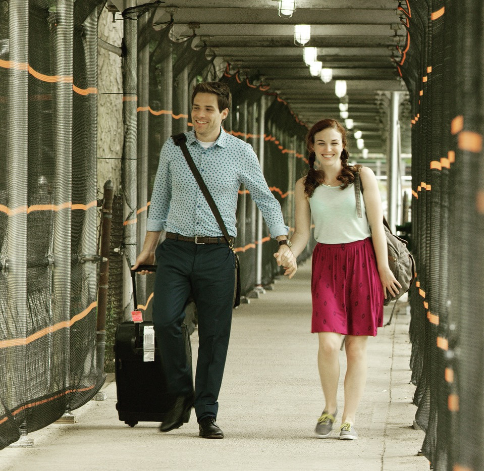 As Chrissie with Ben Rappaport in Landing Up