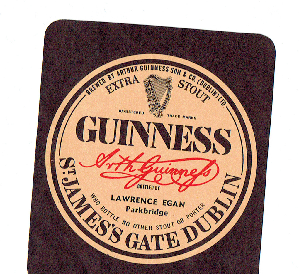 Lawrence Egan, Guinness, Egan's Bar, Park Bridge, Clonegal, Co. Wicklow,  Enniskorthy