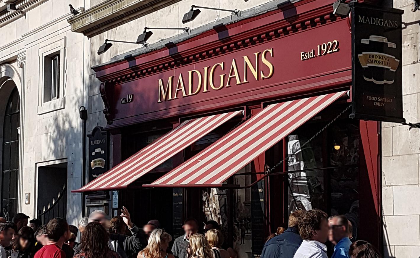 Madigans Pub, 19 OConnell Street upr., Dublin.