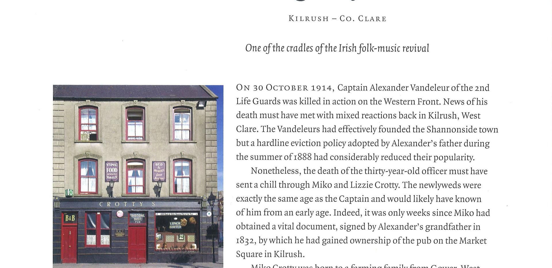 "Crotty's Pub, Kilrush, Co. Clare featrued in ""The Irish Pub"" book by Thames Hudson, James Fennell & Turtle Bunbury"