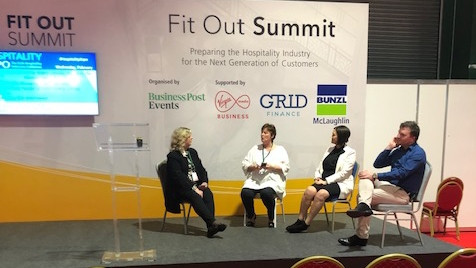 Fit Out Summit presentation on Pub Design, Heritage development, related impacts future on tourism & hospitality trends by Angela Murphy, AM Design, Hospitality Expo 2020