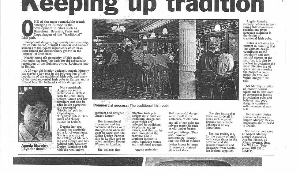 Belfast Telegraph, 1994, A Murphy Design