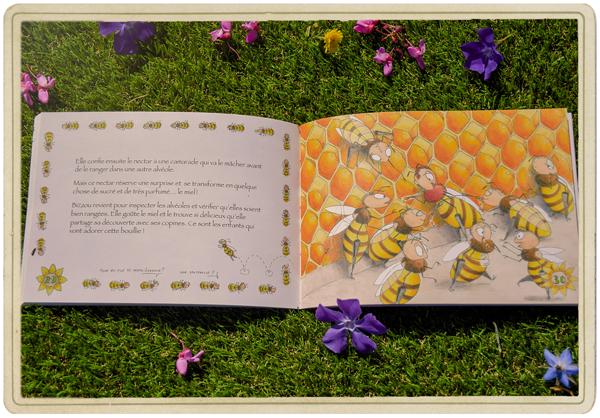 Livre de Bizzou l'abeille - ferme des 4 saisons