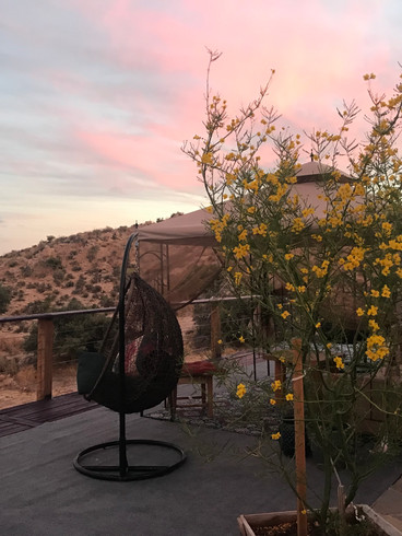 Deck view, StarBeloved Temple Ranch