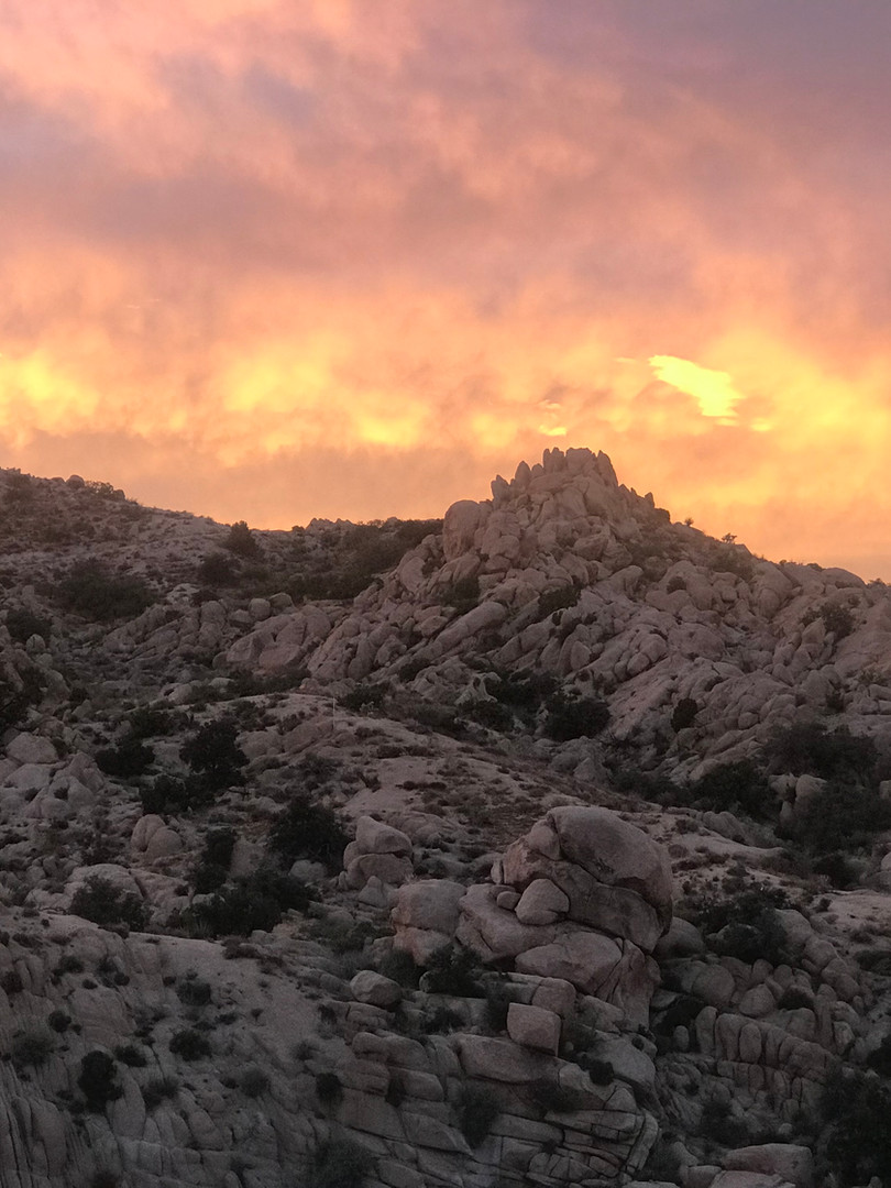Sunset over the boulders, StarBeloved Te