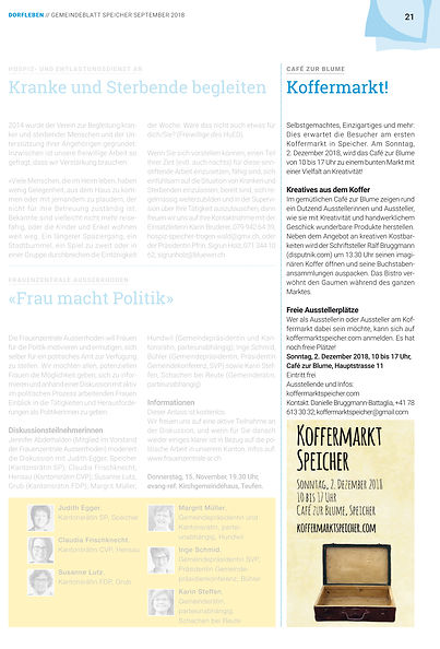 Gemeineblatt Speicher Koffermarkt