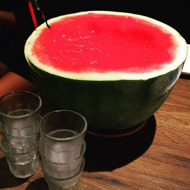 Watermelon Soju at U-Hang Korean restaurant Sai Ying Pun