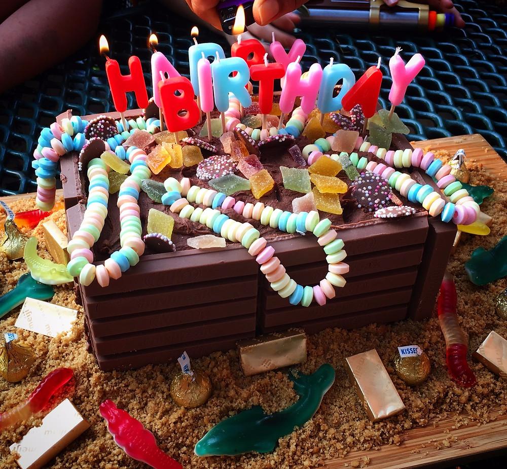 Kit Kat Treasure Chest Cake