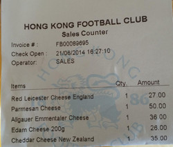Receipt from HKFC