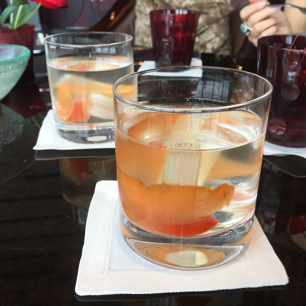 Ritz Carlton Lounge Bar Organic Salad Bar Detox Water