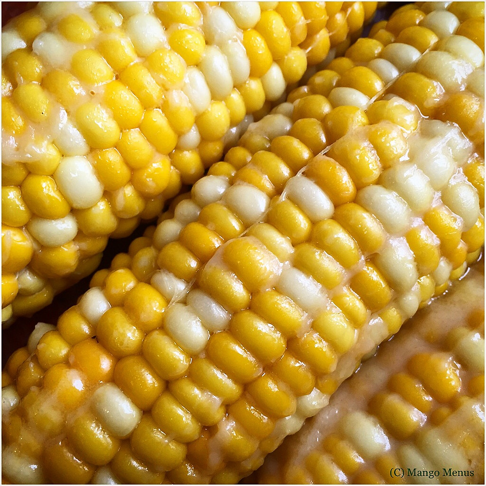 Sweetcorn massaged with white miso and butter