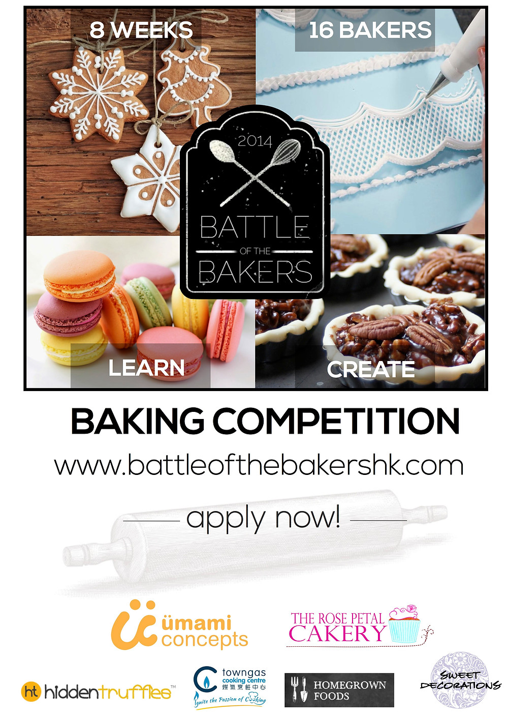 Battle of the Bakers Hong Kong Baking Competition with Rose Petal Cakery and Umami Concepts