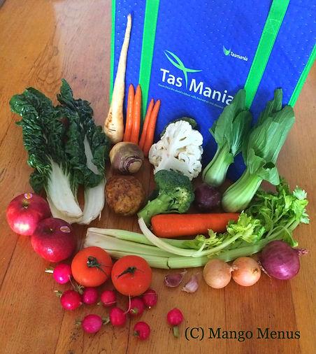 Tasmania Fresh vegetable delivery in HK review by Mango Menus