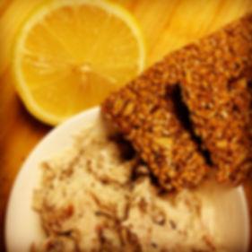 Mango Menus Smoked Mackerel Pate with Green Vitamin Raw Flax Seed Crackers