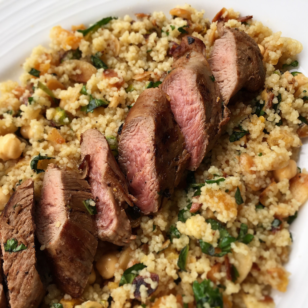 Moroccan Lamb Tenderloins from MM Fresh with Fruity Couscous