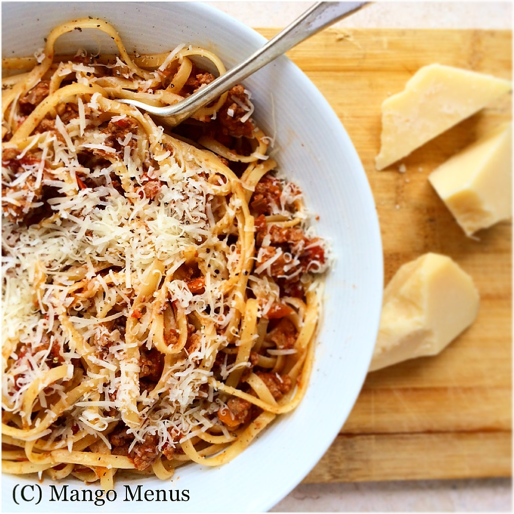 Veal Porcini Ragu using veal from South Stream Seafoods and parmesan from Golden Goose Gourmet