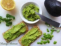 Avofava Dip avocado fava broan bean dip