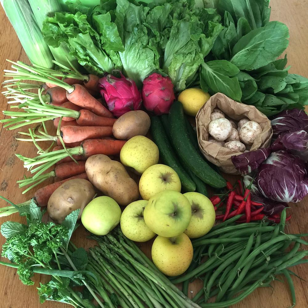 Eat FRESH organic fruit & veg delivery HK