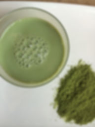 Matcha Latte using Teapigs tea and almond mylk