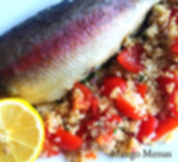 Australian Rainbow Trout from Leo's Fine Foods with Quinoa, tomato & thyme salad