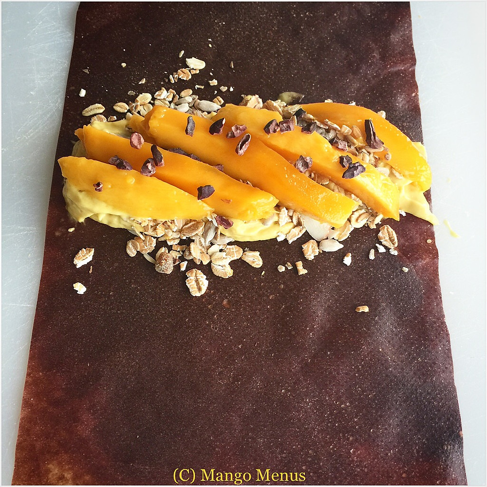 Mango Choc Wrap with coconut wrap from Green Vitamin