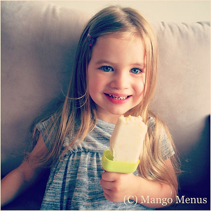 Banana Yoghurt Lollies Popsicles refined sugar free