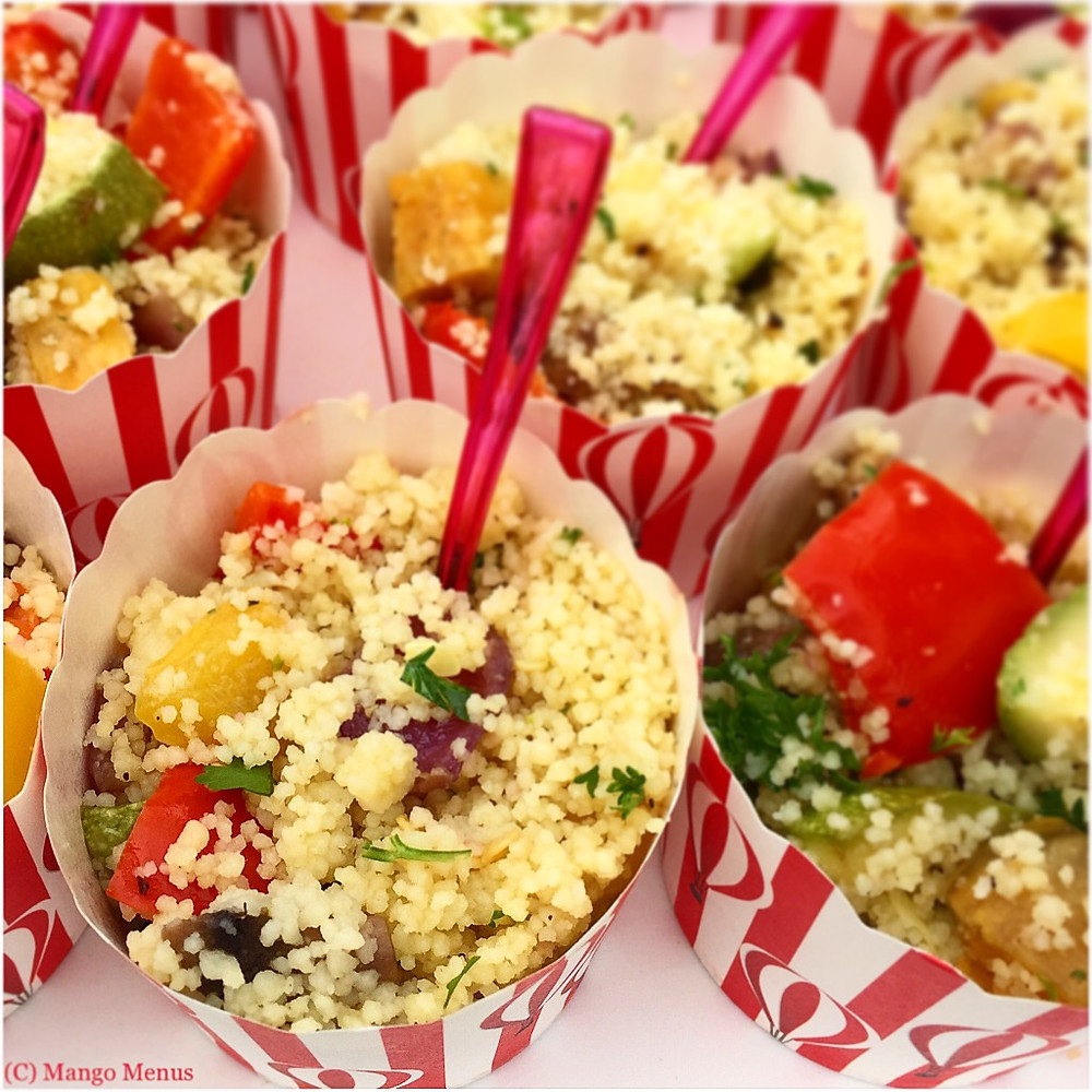Herby couscous with roasted veg