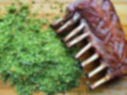 Rack of Lamb with a Herby Crust adapted from Gordon Ramsay