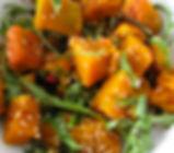 Mango Menus' Pumpkin & Rocket Salad