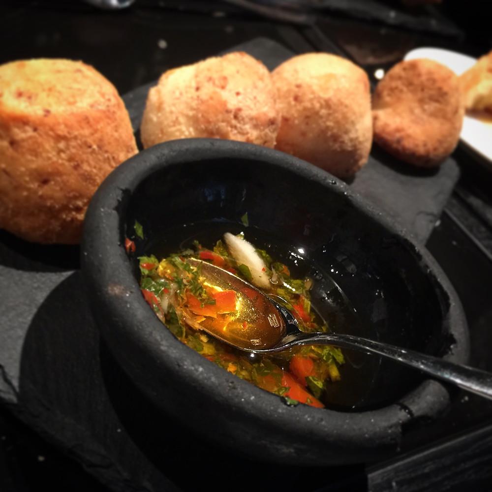 Gaucho HK cheesy rolls and chimmichurri
