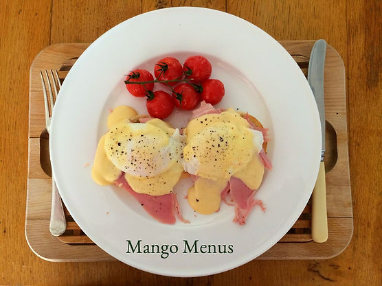 Mango Menus 12 hour Brunch Eggs Benedict