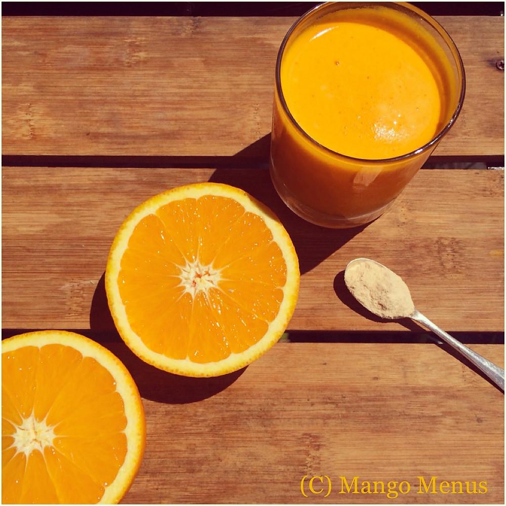 Baobab, orange, carrot and ginger juice