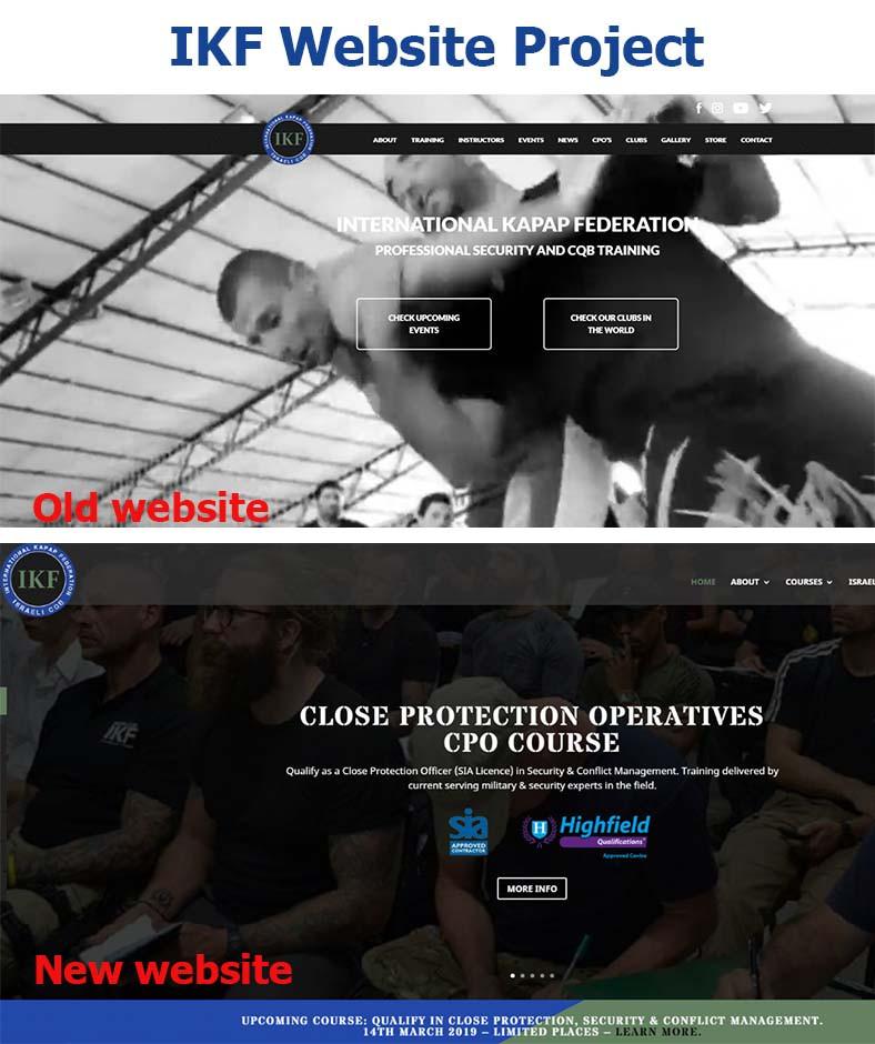 IKFCQB website - before & after