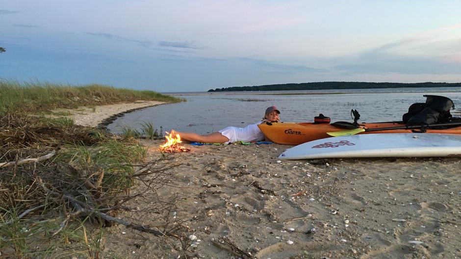 Solo Sandbar SUP Adventure