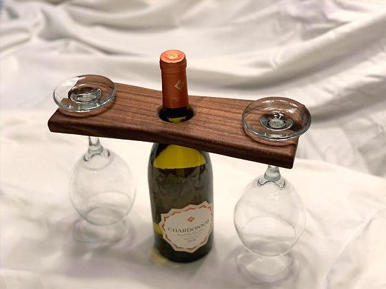 Wine Glass Display - Walnut