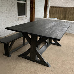 6' x 4' Patio Table with Matching Bench