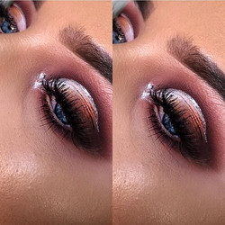 Love a ombre cut crease with glitter 😍