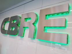 3d built up lettering for CBRE