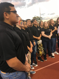 National Anthem at Homecoming